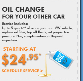 Oil Change For Your Other Car $24.95