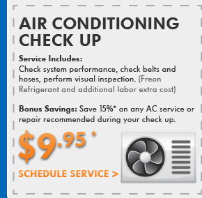 Air Conditioning Check Up $9.95