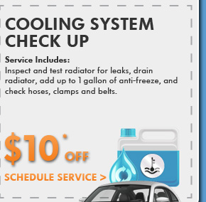 Cooling System Check Up $10 OFF